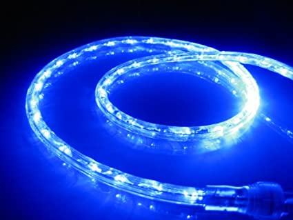 Amazon 18ft rope lights ocean blue led rope light kit 10 18ft rope lights ocean blue led rope light kit 10quotled spacing aloadofball
