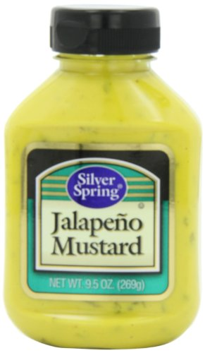 Silver Springs Mustard, Jalapeno, 9.5-Ounce Squeeze Bottles (Pack of ()