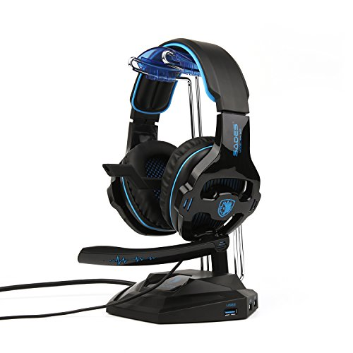 SADES  2018 Newest SA810 Gaming Headset Over Ear Stereo Head
