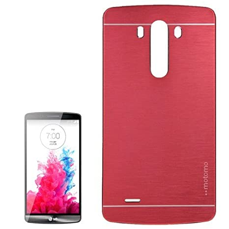 Carcasa LG G3 rojo 2 in 1 BRUSHED texture metal: Amazon.es ...