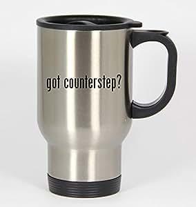 got counterstep? - 14oz Silver Travel Mug