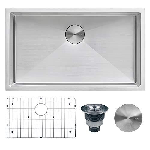 Ruvati 33-inch Undermount 16 Gauge Tight Radius Large Kitchen Sink Stainless Steel Single Bowl - RVH7433 (31 X 19 Kitchen Sink)