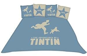Belltex Tintin - Juego de funda nórdica King 240x220/65x65(2) cm, multicolor