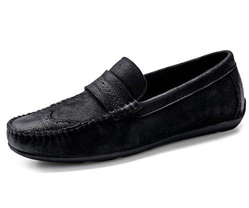casual 38 To Scarpe mocassini eleganti guidano Black che 44 Nero in On Coffee Slip pelle Size da e da barca vera uomo UnHqU4fB