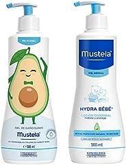 Mustela Pack Rutina Baño - Hidratación Edición Limitada Piel Normal, color, 2 count, pack of/paquete de