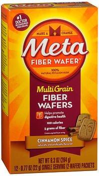 - Metamucil Natural Psyllium Fiber Wafers, Cinnamon Spice - 12 ct, Pack of 6