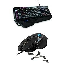 Logitech G910 Orion Spark RGB Mechanical Gaming Keyboard + Logitech G502 Proteus Spectrum RGB Tunable Gaming Mouse Bundle