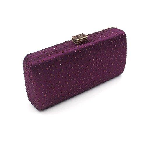 Sac Main Sac à Noce Purple Diamant De Femmes Soir Sac qECpTT