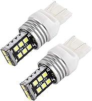 2X 12V WHITE T20 7443 7440 15 LED DUAL FILAMENT CAR BRAKE STOP TAIL LIGHT BULB
