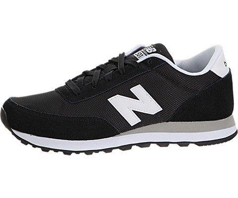 New Balance Women's 501 Lace Up Sneaker Black 6 M US