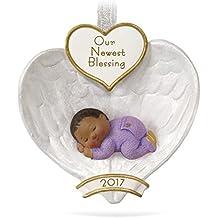 Hallmark Keepsake 2017 African-American Baby's First Christmas Dated Christmas Ornament