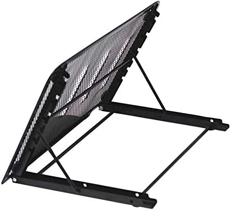 Vertical Tablet//Laptop Stand Ventilated 6-Level Height Adjustable Tablet Laptop Computer iPad Holder Stand Metal Mesh