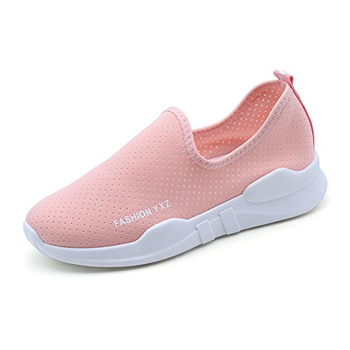 Women's Lite Racer Running Shoe mesh Sneakers Fashion Breathable (Pink 35/4.5 B(M) US Women) ()