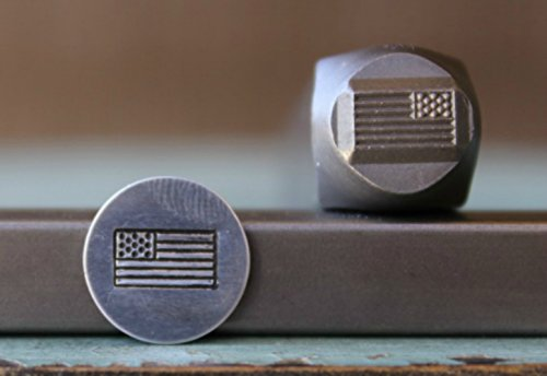 Brand New 8mm American Flag Metal Punch Design Stamp - Supply Guy - CH-160 - Flag Stamp