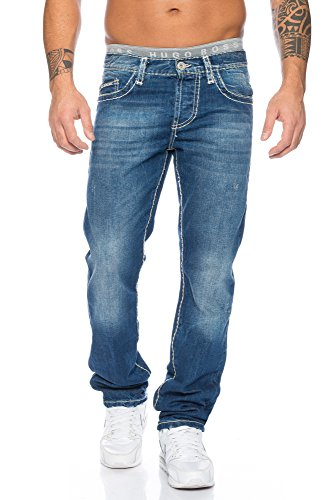 Red Bridge Hombre Denim Vaqueros Pantalones Straight Casual Jeans Azul
