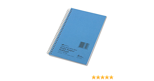 33502 White 80 Sheets//Pad College Rule National Brand Subject Wirebound Notebook 5 x 7-3//4
