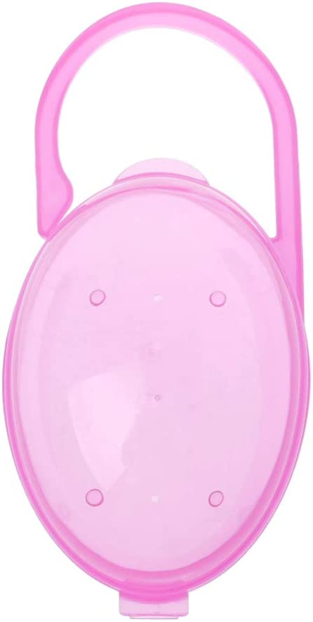 1 pieza chupete soporte Baby sólido chupete caja para chupete contenedor soporte chupete caja de viaje caja de almacenamiento seguro soporte chupete PP caja de plástico rosa rosa: Amazon.es: Bebé