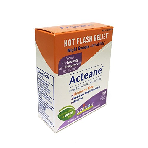 - Boiron Acteane, 120 Tablets, Homeopathic Medicine for Hot Flash Relief