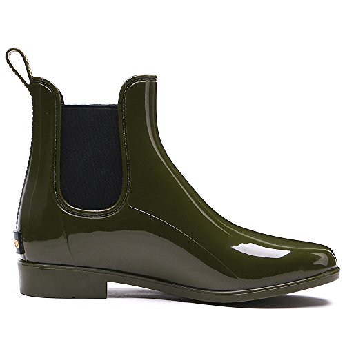 Fashion Boots Rain Patchwork Short Women's Ankle Tongpu Waterproof R0xq15nw