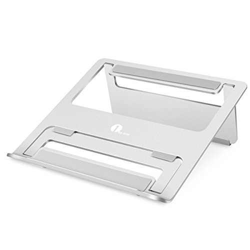 1byone Foldable and Portable Aluminum Laptop Stand for Macbook/Laptops/Tablets, Silver