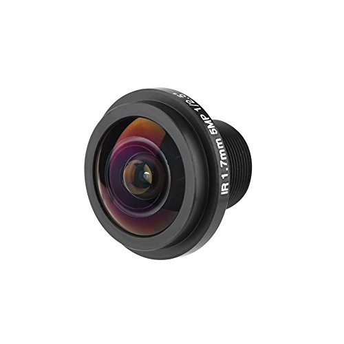 fosa Mini HD 5MP Fisheye Security Camera Lens with 1.7mm Focal Length, 185°Wide Angle CCTV Lens for Fisheye Security Cam