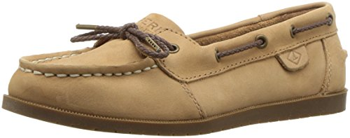SPERRY Girls' Authentic Original 1 Eye Boat Shoe, Sahara, 4.5 Medium US Big Kid ()