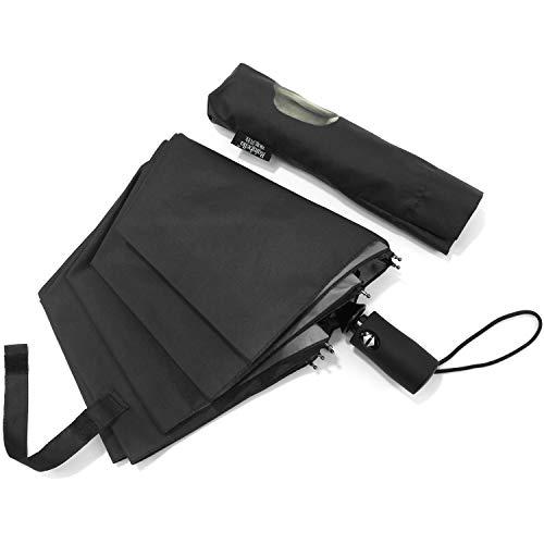 Lejorain Automatic Middle Finger Umbrella Lightweight Travel Rain Umbrella - Funny Creative Gift for Men (Creative Umbrella)
