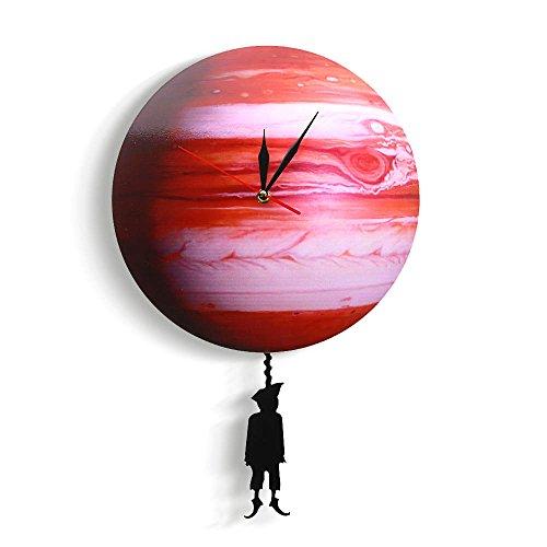 Shuangklei Swinging En El Planeta Júpiter Reloj De Pared Sistema Solar del Dormitorio Astronomía...