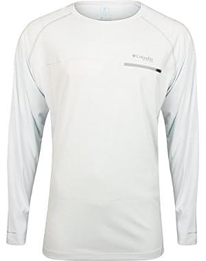 Cool Catch Tech Zero Long Sleeve ShirtWHITE size XL - golf shirt