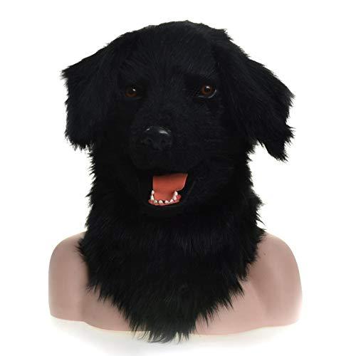 edición limitada en caliente HUIXIANGJUAN-MASK Máscara Animal Realista Máscara de de de Perro negro Máscara de Boca móvil Simulación Máscara Animal Máscara de Adulto ( Color   negro )  punto de venta en línea