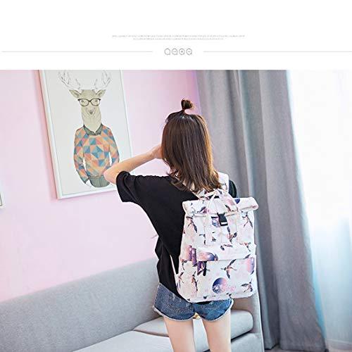 Purse Studente leggero Peso Grande School Waveni Backpack High Pendolare capacit Girl 80vNnwm