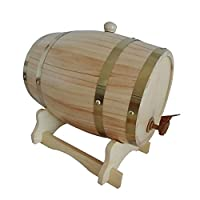 ノーブランド品 1.5リットル 木製 ワインバレル ビール ウィスキー ラム 醸造 樽 全2サイズ4色選ぶ - 木材色, 158x 238mm