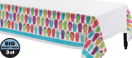 Another Dream Flip Flop Tropical Luau Hawaiian Summer on The Beach MEGA Deluxe 238 Piece Party Supply Pack for at Least 50 Includes 60 Plates, 125 Napkins, 50 Cups, and 3 Tablecovers! by Another Dream (Image #4)