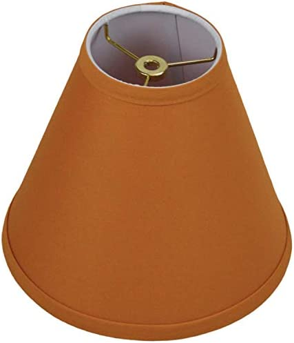FenchelShades.com Lampshade 4 Top Diameter x 9 Bottom Diameter x 8 Slant Height with Washer Spider Attachment for Lamps with a Harp Linen Gold