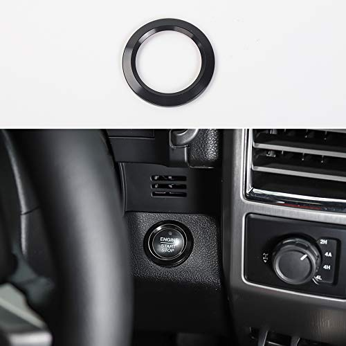 Black ABS Inner Engine Start Switch Knob Button Decor Ring Cover Trim For Ford F150 2015 2016 2017 2018