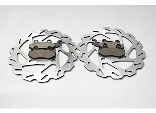 2008 2009 2010 Yamaha YXR700 700 Rhino Front Sport Brake Rotors And Brake Pads