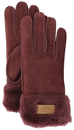 (UGG Women's Turn Cuff Water Resistant Sheepskin Gloves Port MD)