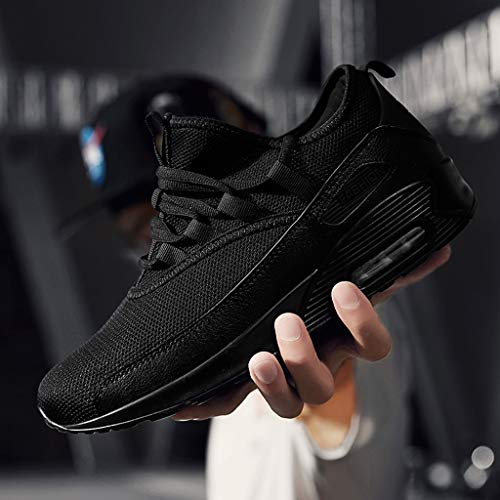 Yebiral Baskets Lacets Les Femme Noir De Chaussures Course qqFwzRA
