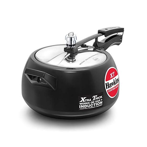 Hawkins Contura BlackXT Induction Compatible Pressure Cooker, 5 Litre, Black (CXT50)