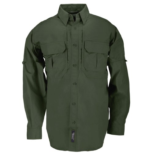 5.11 Tactical Tactical Long-Sleeve Shirt, OD Green, X-Large