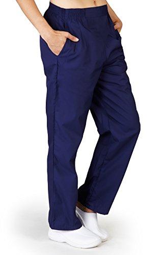 NATURAL UNIFORMS Women's Scrub Pants Medical Scrub Pants Boxer Pants M Navy Blue by Natural Uniforms