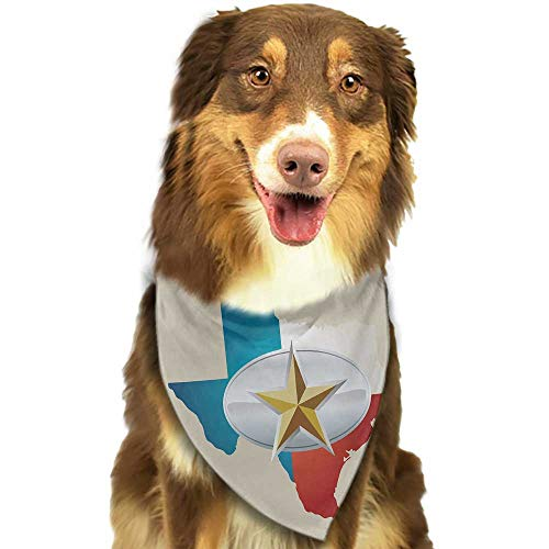 Custom pet Scarf Texas Star Cowboy Belt Buckle Star Design with Texas Map Southwestern Parts of America W27.5 xL12 Scarf for Small and Medium Dogs and Cats
