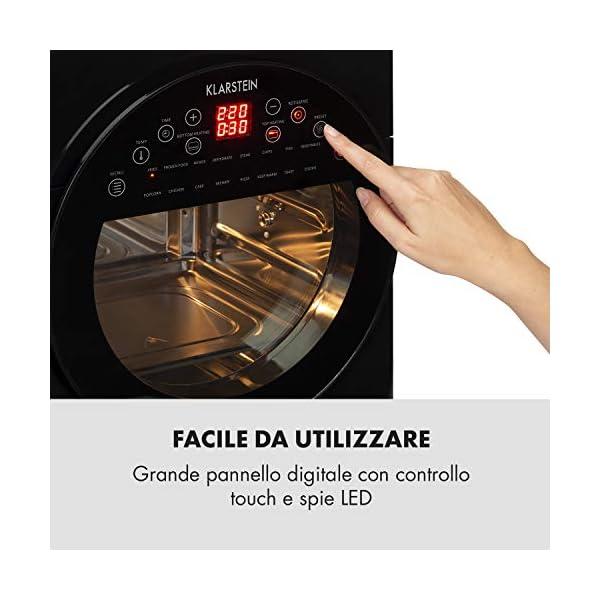 KLARSTEIN AeroVital Easy Touch - Friggitrice ad Aria Calda, Forno ad Aria Calda, Mini Forno, 1700W, XXL: 14L, 16… 5