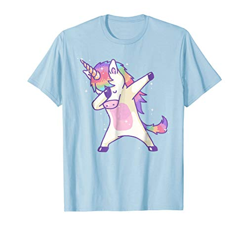63d7bfca4011d Women's Dabbing Unicorn Shirt Dab Hip Hop Magic Girl Clothes