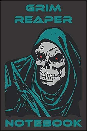 Grim Reaper Notebook - Black - Cyan - Gray - College Ruled (Death)