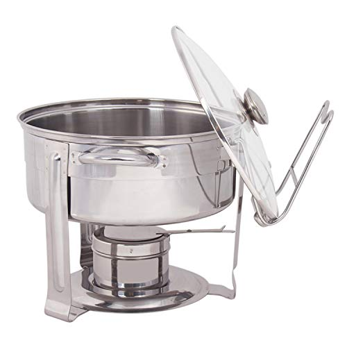 - Gibson 109542.06 Lanston Chafing Dish, 4.5 Qt, Silver