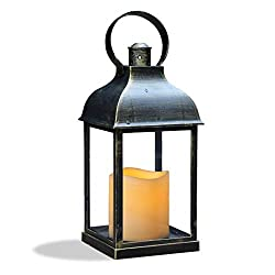WRalwaysLX Decorative Lanterns with Timer Candle L
