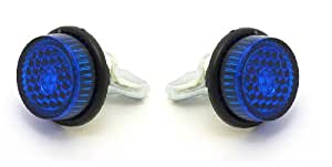 Tuercas de Montaje Reflectantes para Matrícula (Par) - Azul