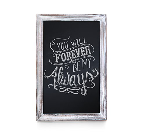 (HBCY Creations Rustic Whitewashed Magnetic Wall Chalkboard, Extra Large Size 20