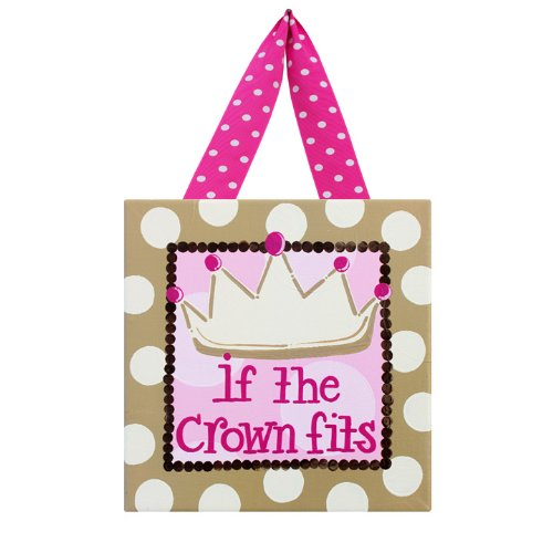 Princess Crown Canvas Wall Art (If the Crown Fits: Children's Canvas Wall Art for Girl's Bedroom, Dance Studio, Princess Lovers, or Diva Dorm Room)